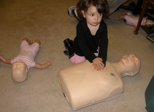CPR so easy a 2 year old can do it!